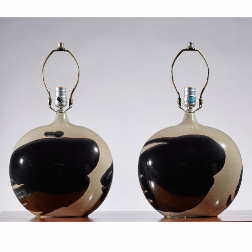 ceramic lamps, italian,modern,mid-century