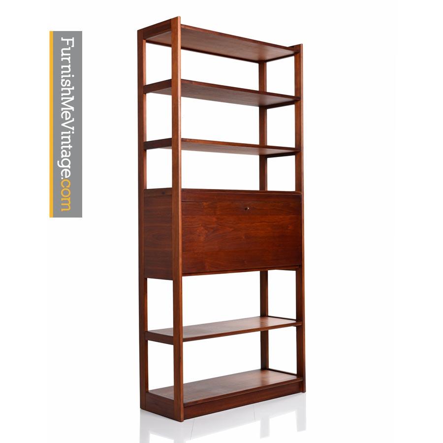 Cado Walnut Room Divider Danish Modern Bookshelf