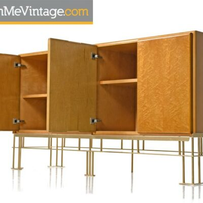 Milo Baughman,hollywood regency, thayer coggin,maple,Credenza