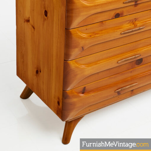1950s,Franklin Shockey, Sculptured Pine, Dresser,rustic modern