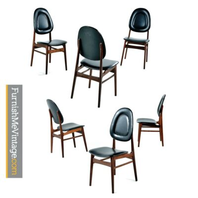 Brodrene Sorheim Norwegian Walnut Dining Chairs Set of Six