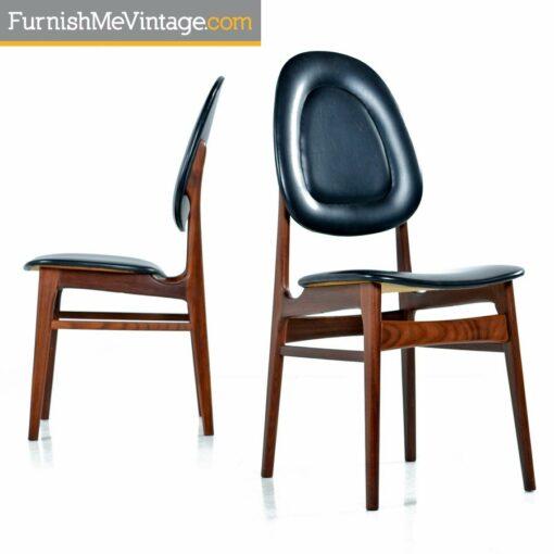 Brodrene Sorheim Norwegian Walnut Dining Chairs Set of Six