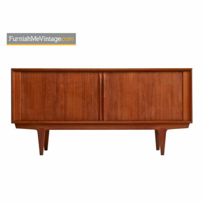 Tambour Door Credenza By Bernhard Pedersen Model #142 - Danish Teak