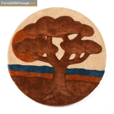 1970s,retro,textile,fiber wall art,tree of life
