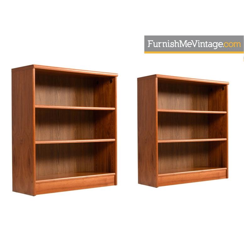 vintage danish teak bookcases - Teak Bookshelves