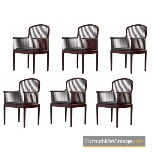 stendig,andover chairs,davis allen,italian modern,spindle back,dining chairs