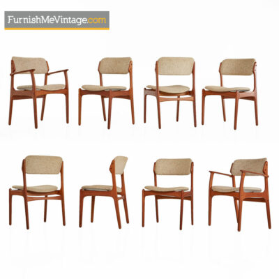 Erik Buch Dining Chairs Model OD-49 - Modern Danish Teak