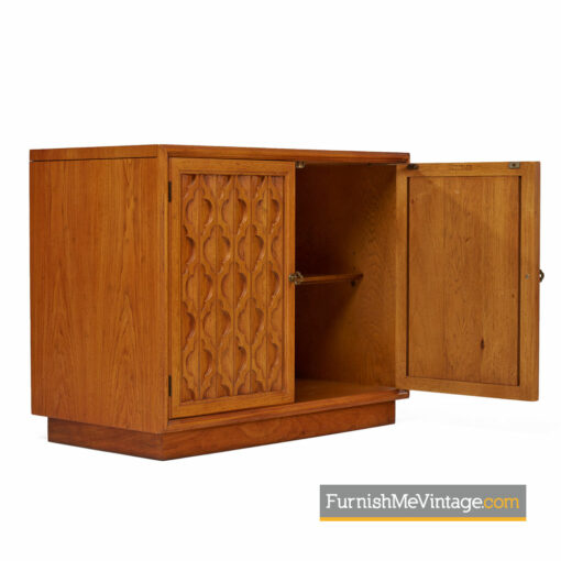 Heritage Furniture Commode - Carved Pecan Door Cabinet