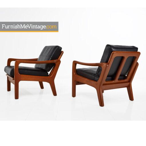 juul kristensen,leather,danish,lounge,chairs