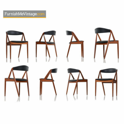 Kai Kristiansen Danish Teak Chairs Model #31 Set of Eight