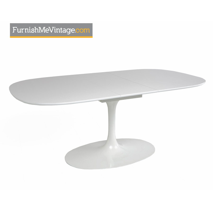 Tulip Table And Vintage Saarinen Style Burke Shell Chairs - Extendable tulip table