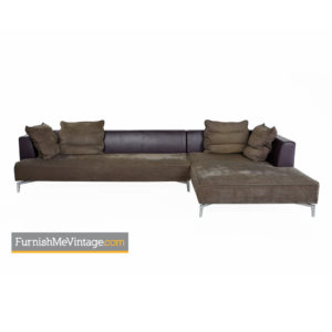 Ligne Roset Sectional Sofa With Chrome Leg Base