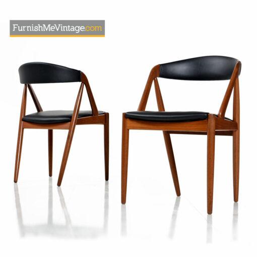 Kai Kristiansen Danish Teak Chairs Model #31 Set of Eight