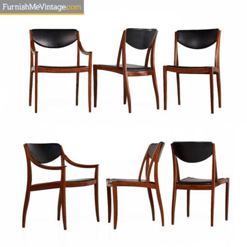 drexel parallel,danish,modern,retro,dining chairs,Barney Flagg