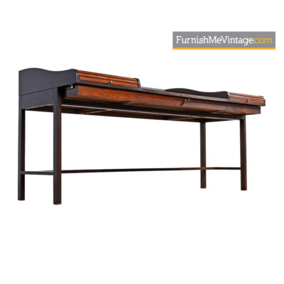 Edward Wormley for Dunbar Rosewood Roll-Top Executive Desk
