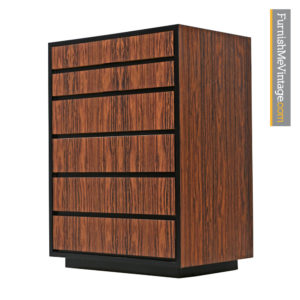 Rosewood Laminate Highboy Dresser