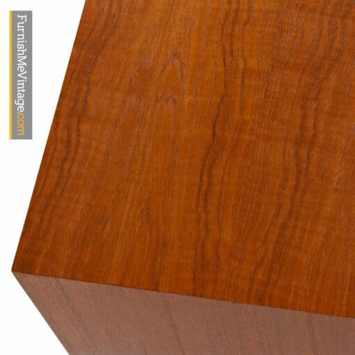 Svend Aage Larsen Teak Credenza - Danish Modern Tambour Sideboard