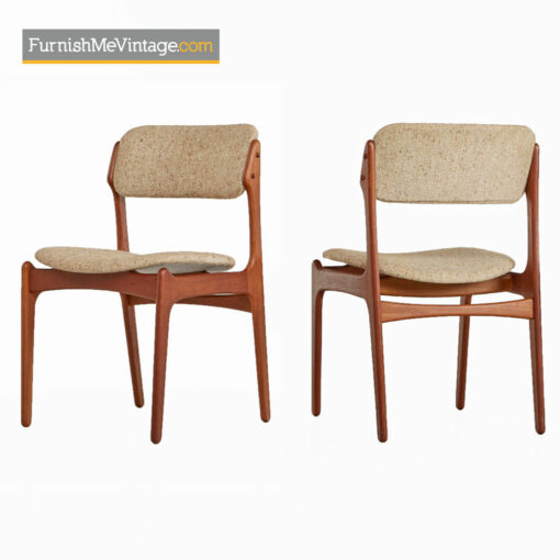 Erik Buch Dining Chairs Model OD-49 - Modern Danish Teak