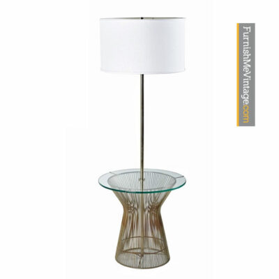 Warren Platner Style Glass Table Floor Lamp by Laurel