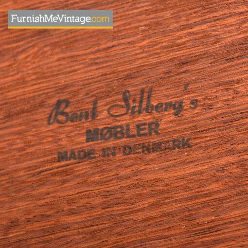 Danish Teak Nesting Tables by Bent Silberg's Mobler