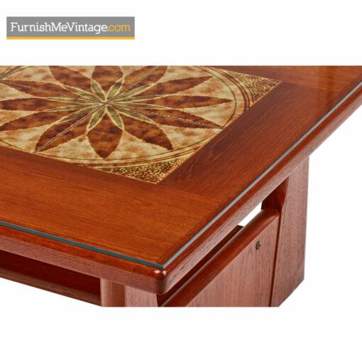 Danish Coffee Table By BRDR Furbo - Stone Tile Inlaid Teak