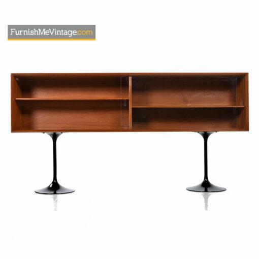 Danish Teak Bookcase Console Cabinet Credenza by Dyrlund