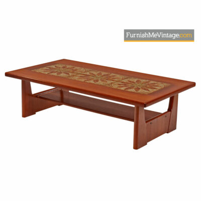 Danish Coffee Table By BRDR Furbo - Stone Tile Inlaid Teak