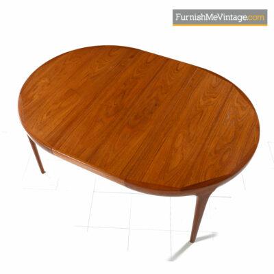 Kofod Larsen for Faarup Mobelfabrik Danish Teak Oval Dining Table