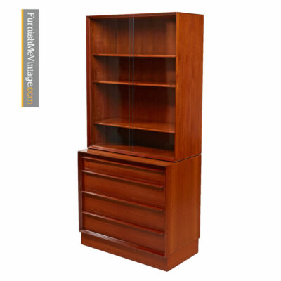 Lyby Mobler Teak China Hutch Bookcase Cabinet - Danish Modern