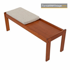 Danish Modern Teak Coffee Table Bench by Komfort