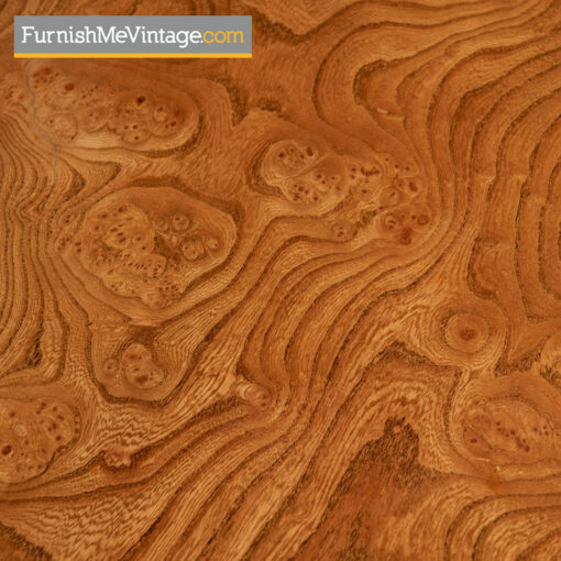 Mastercraft Dresser - Hollywood Regency Burl Wood and Brass