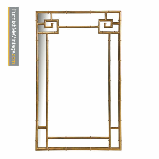 Mastercraft Mirror - Hollywood Regency Asian Modern Brass