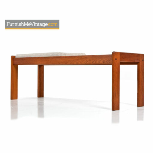 Danish Teak Bench Coffee Table by Komfort - Scandinavian Modern
