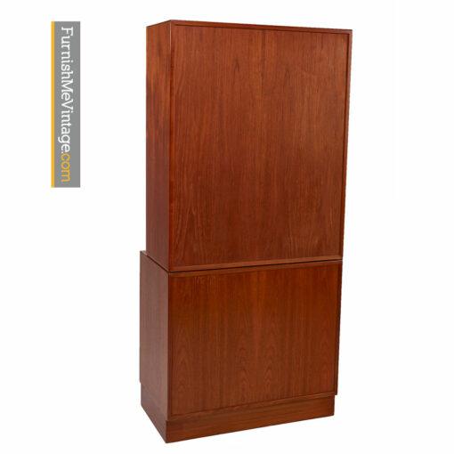 Lyby Mobler Teak China Hutch Bookcase Cabinet - Danish Modern