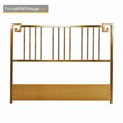 Mastercraft Headboard - Hollywood Regency Asian Modern Brass