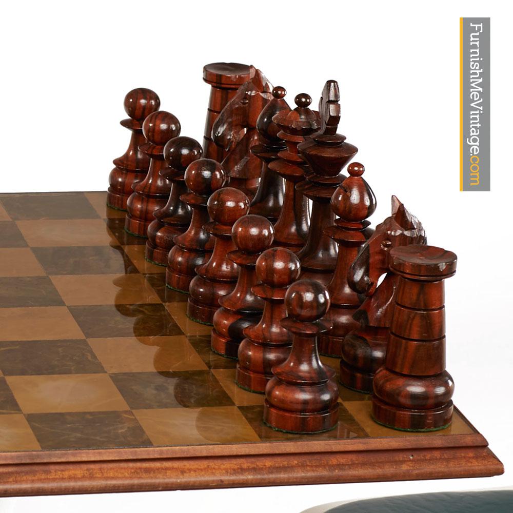 Rosewood Chess Set Saarinen Style Mid Century Modern