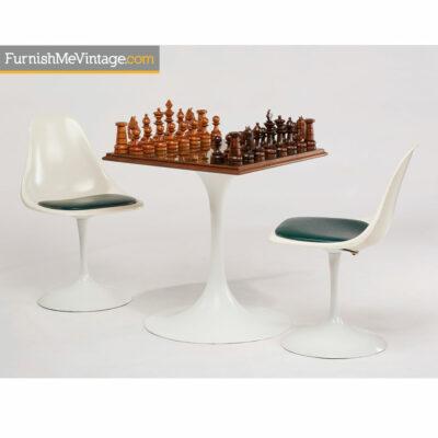 Saarinen Style Mid-Century Modern Rosewood Chess Set
