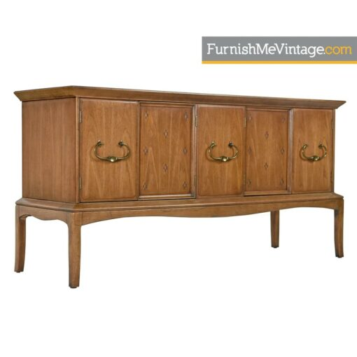 Moroccan Style Thomasville Horizon Credenza - Marble Top With Brass Handles