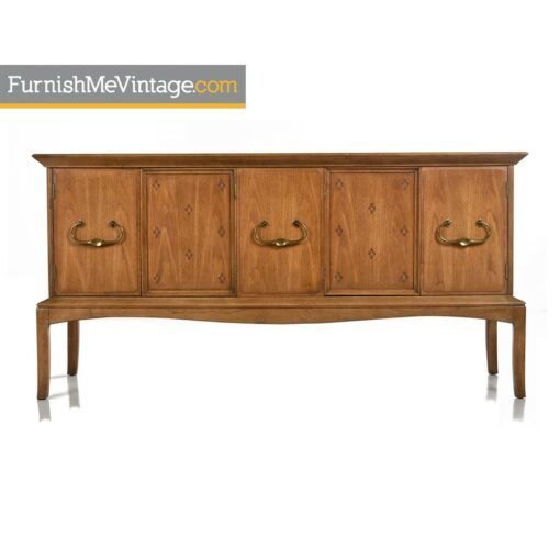 Moroccan Thomasville Horizon Credenza - Marble Top With Brass Handles