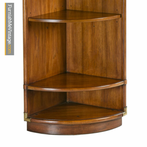 Corner Cabinet - Campaign Style Drexel Heritage Accolade Bookshelf Curio