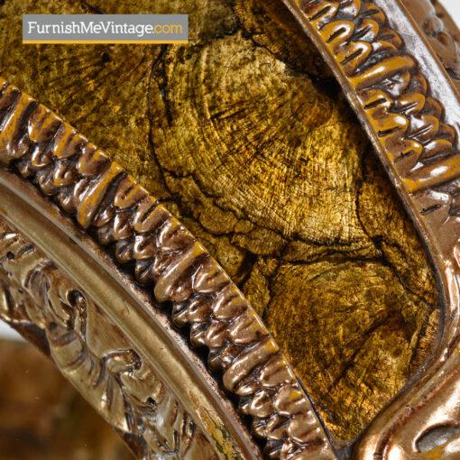 Capiz Shell End Table - Hollywood Regency Gilt Metal Florentine Style