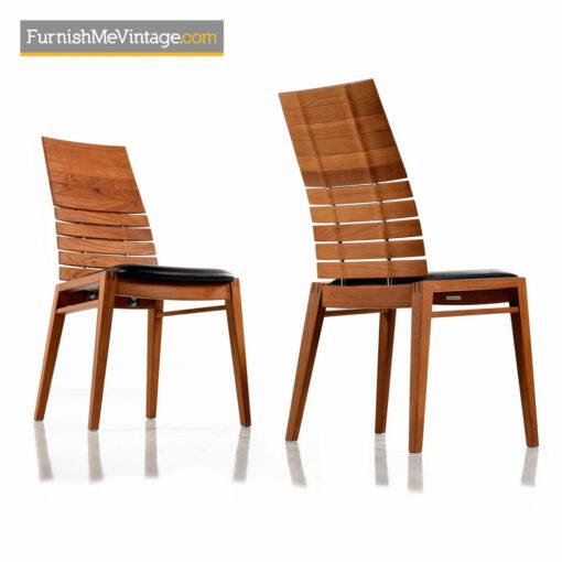 High back Teak Dining Chair - Scandinavian Modern