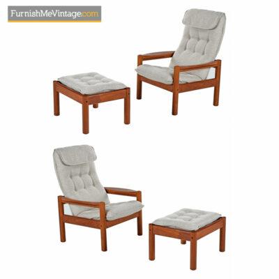 Domino Mobler Lounge Chair & Ottoman - Scandinavian Modern
