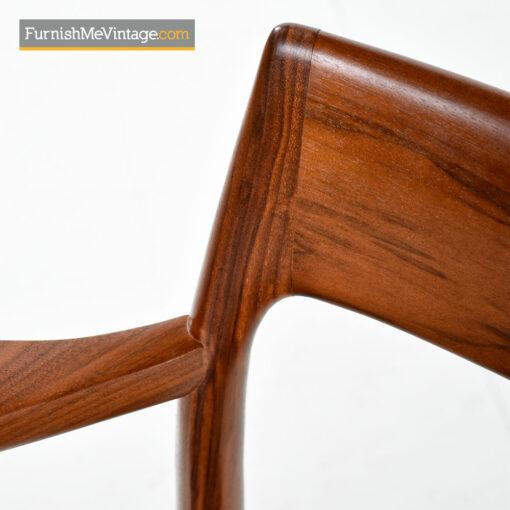 Moller Armchair #57 Walnut & Black Leather - Made in Denmark