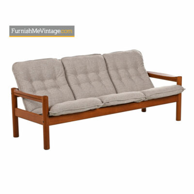Solid Teak Sofa by Domino Mobler - Scandinavian Modern