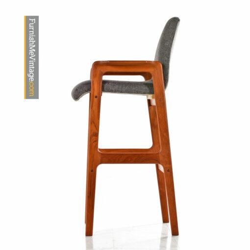 Teak Bar Stool - Scandinavian Modern Highback Design