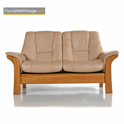 Ekornes Stressless Buckingham Loveseat Reclining Leather Sofa