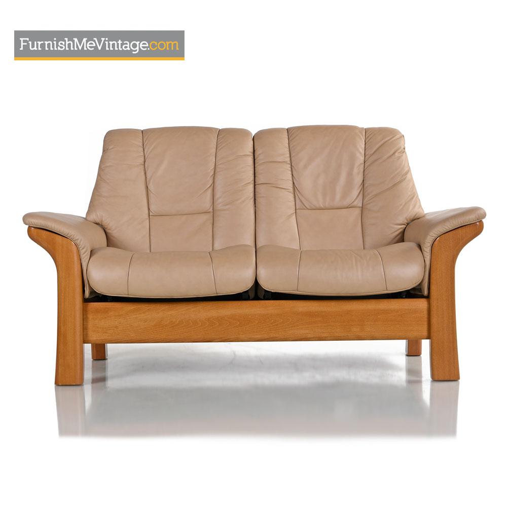 Ekornes Stressless Buckingham Loveseat Reclining Leather Sofa