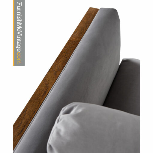 Cubist Club Chair - Mid-Century Baughman Style Grey Velvet