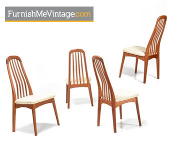 Benny Linden Teak Dining Chairs - Danish Modern Set of (4)